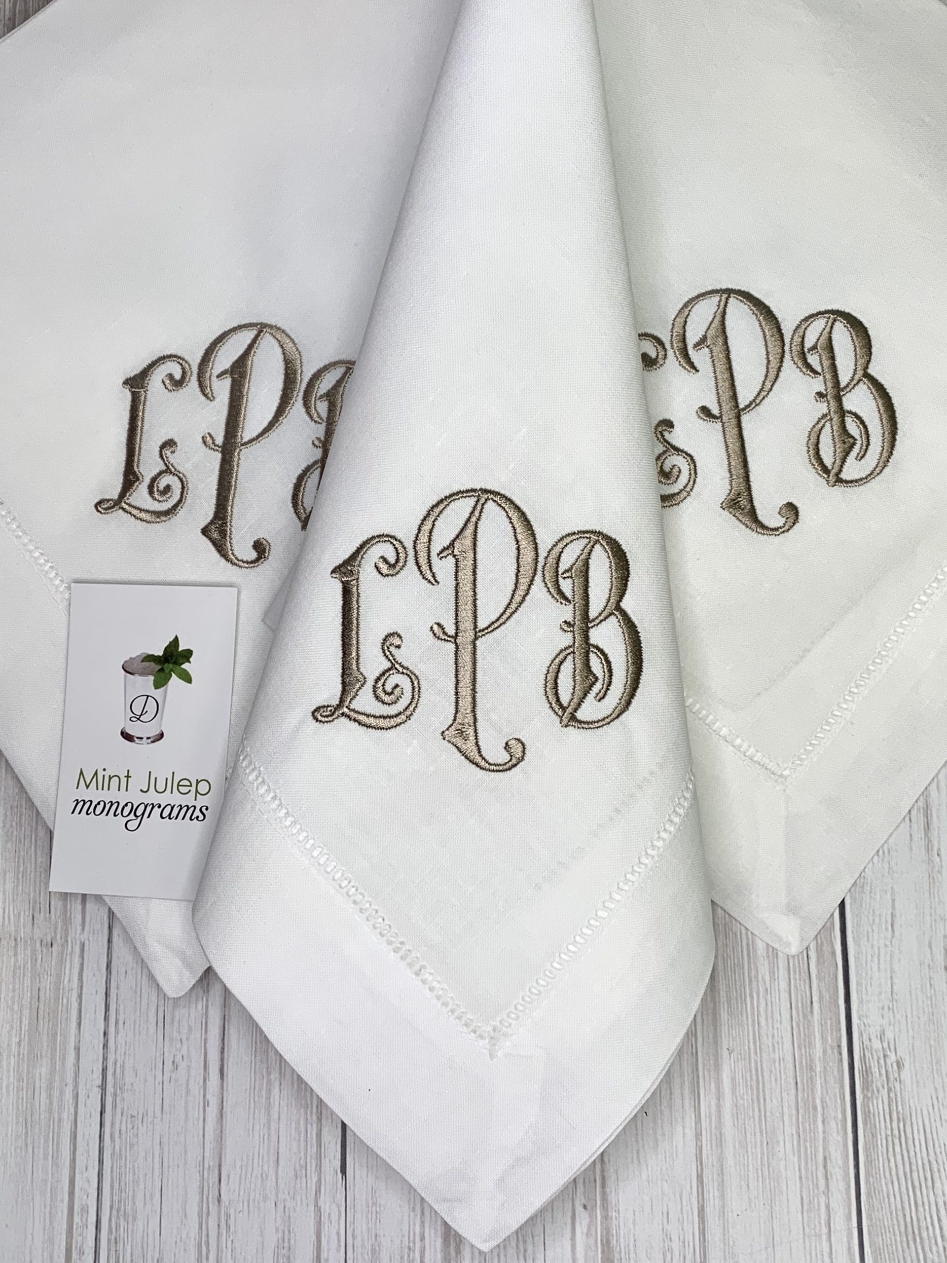 Monogrammed Shabby Chic Linen Napkins in 15 colors Stone Washed Linen Monogrammed  Napkins perfect for the Holidays