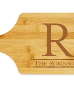 newton paddle cutting board engraved 1