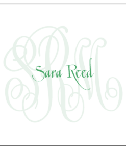 monogrammed stationery set with name
